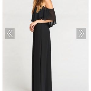 Show Me Your Mumu Black Chiffon Bridesmaid Dress
